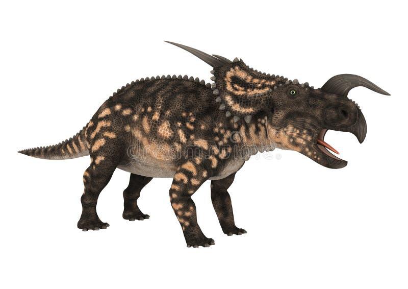 Einiosaurus do dinossauro da rendição 3D no branco ilustração royalty free