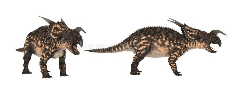 Einiosaurus Isolado do dinossauro no branco ilustração do vetor