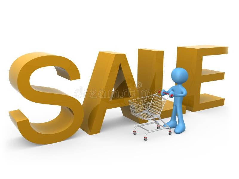 Einkauf auf Verkäufen stock abbildung