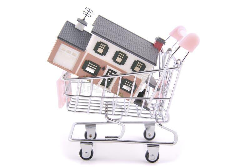 Einkauf für ein Haus lizenzfreie stockfotografie