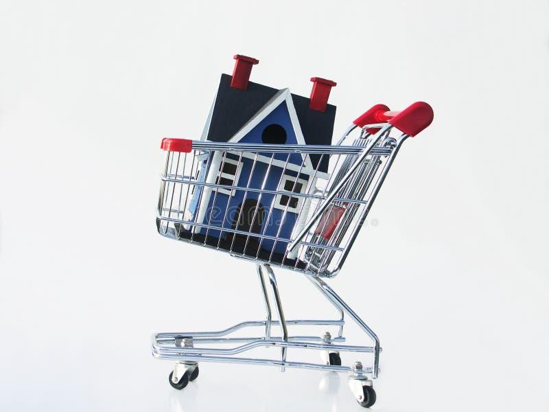 Einkauf für ein Haus lizenzfreie stockfotos