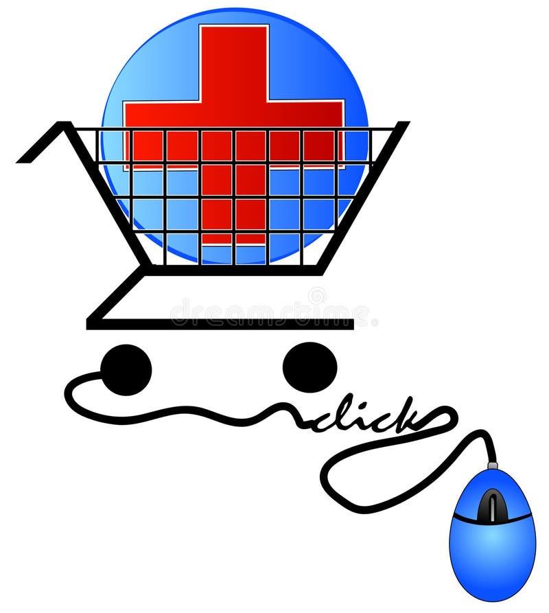 Einkauf für Gesundheitspflege vektor abbildung