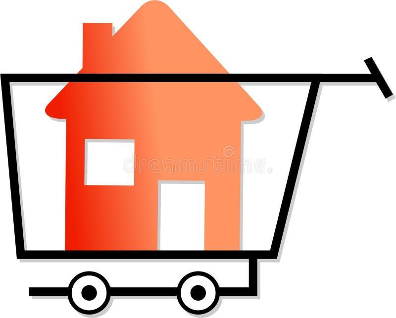 Einkauf für Häuser stock abbildung
