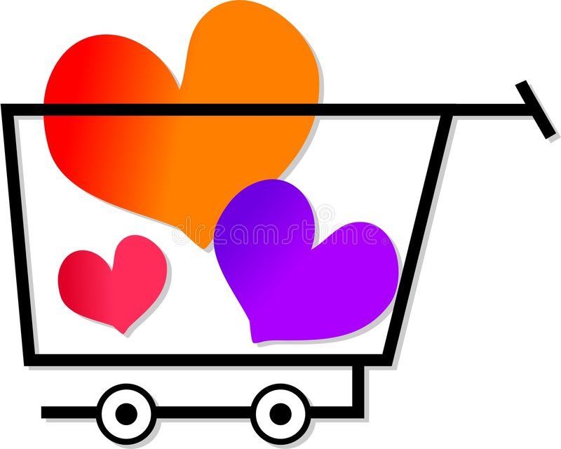 Einkauf für Liebe vektor abbildung