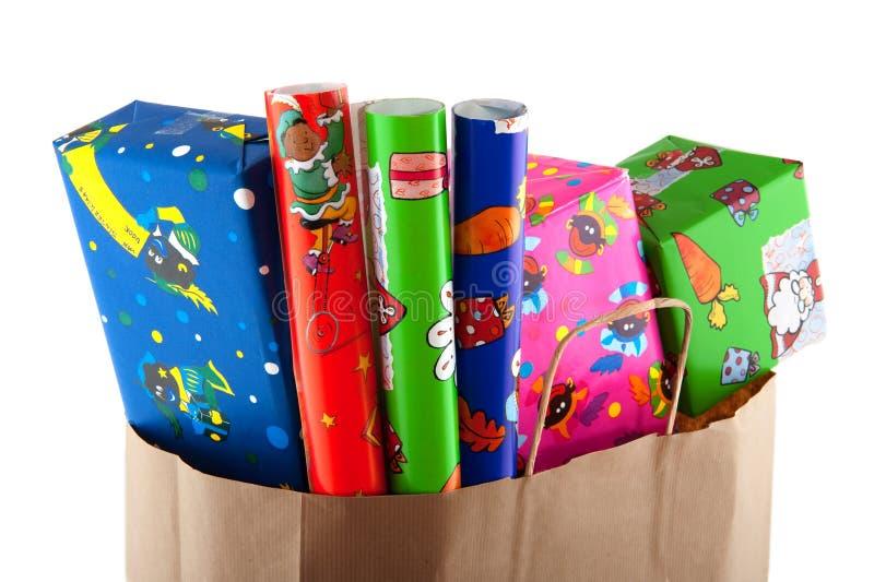 Einkauf für Sinterklaas lizenzfreie stockbilder