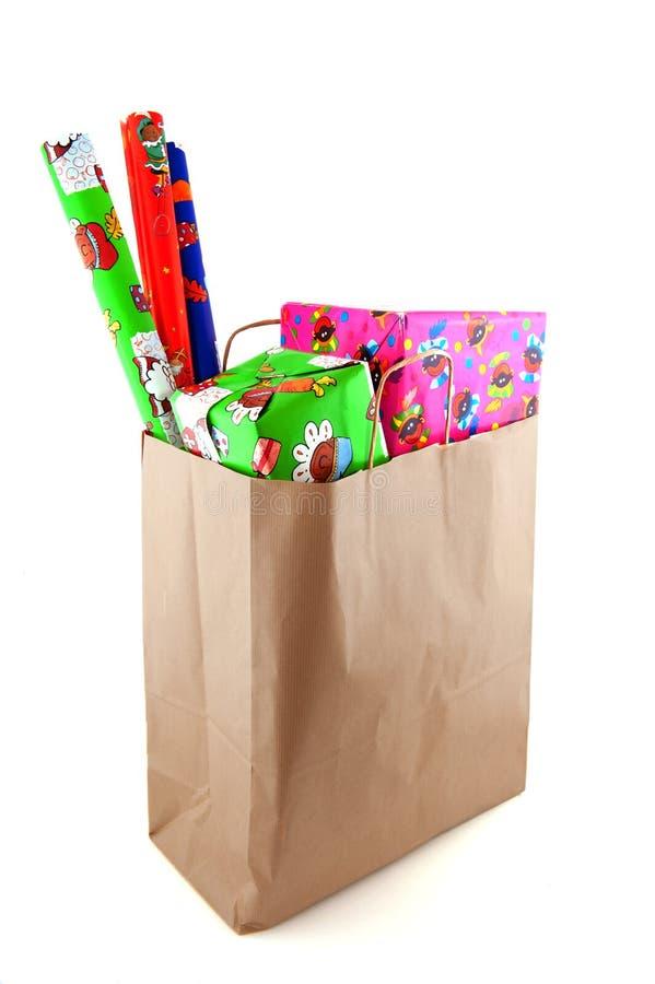 Einkauf für Sinterklaas lizenzfreie stockfotos
