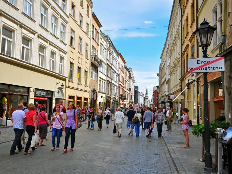 Einkauf in Krakau lizenzfreies stockfoto