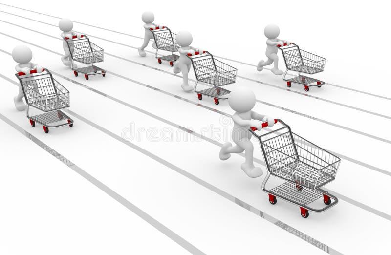 Einkaufen stock abbildung