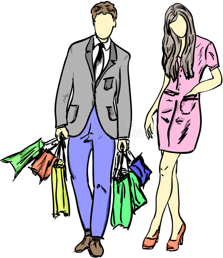 Einkaufen vektor abbildung