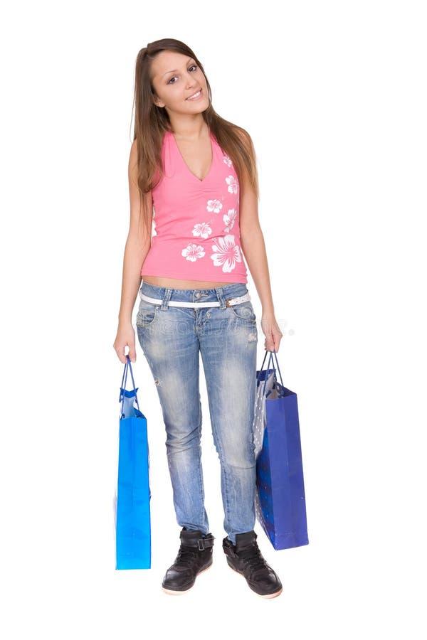 Download Einkaufen stockbild. Bild von freizeit, mädchen, kleidung - 9093129