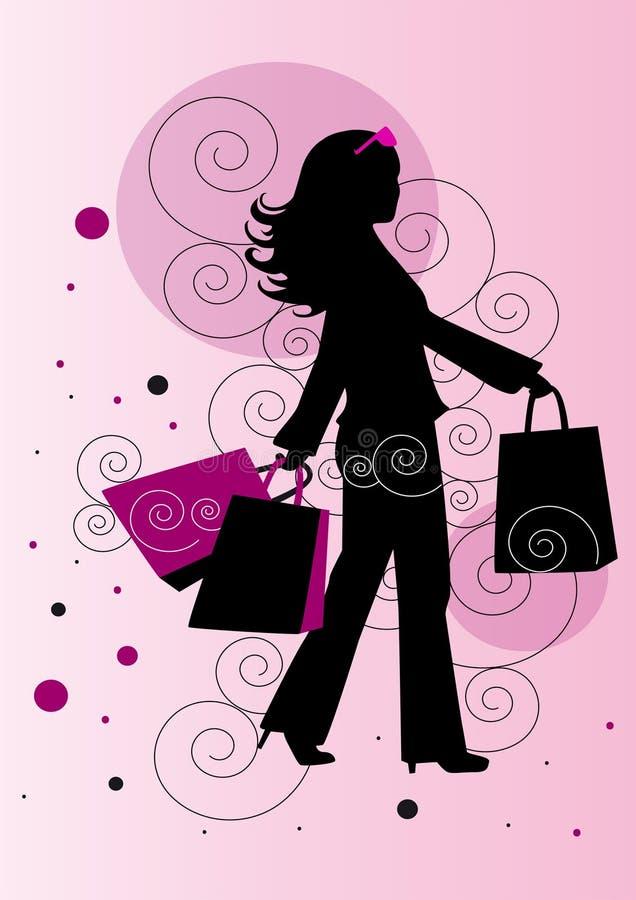 Download Einkaufen stock abbildung. Illustration von frau, pink - 9127641
