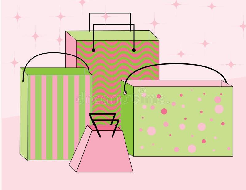 Einkaufen-Beutel lizenzfreie abbildung