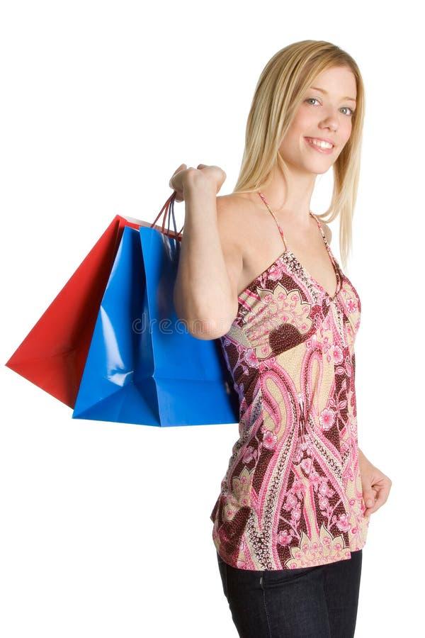 Einkaufen-Beutel-Mädchen lizenzfreie stockfotos