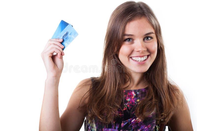 Einkaufen des jungen Mädchens lizenzfreie stockfotografie