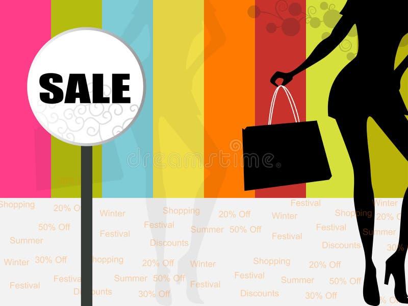 Einkaufen-Hintergrund lizenzfreie abbildung