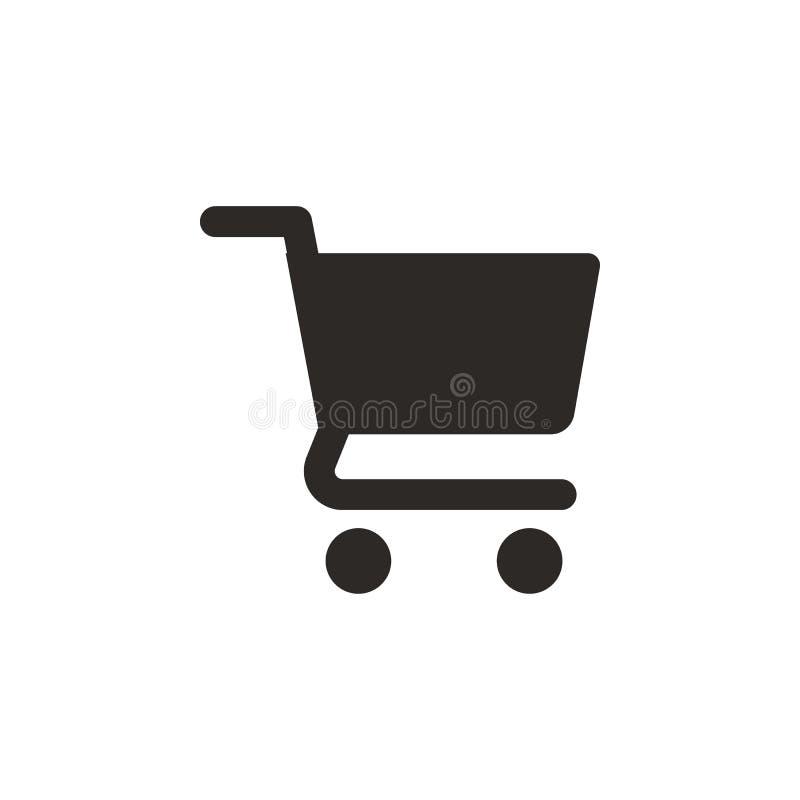 Einkaufen, Korbikone Einfache Elementillustration von UI-Konzept Einkaufen, Korbikone Ei auf goldenem Hintergrund lizenzfreie abbildung