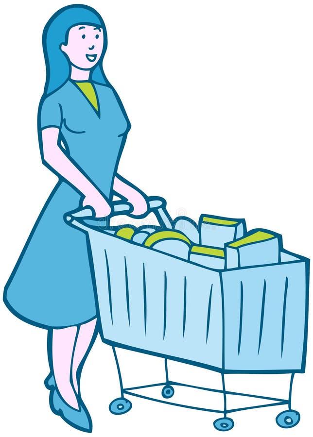 Einkaufen-Lebensmittelgeschäfte vektor abbildung