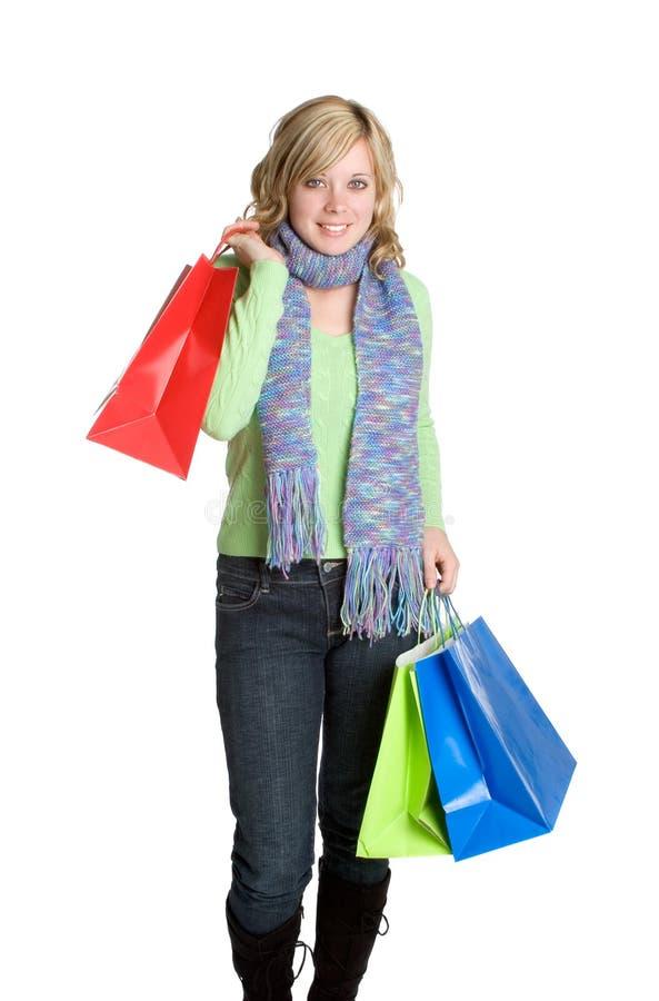 Einkaufen-Mädchen stockfoto