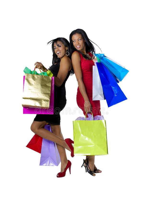 Einkaufen-Mädchen lizenzfreie stockfotos