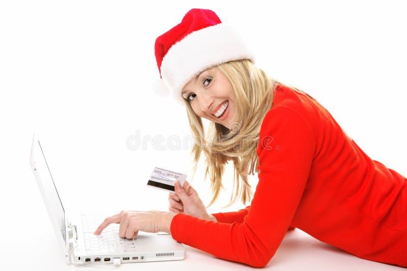 Einkaufen und Bankverkehr online einfach und sicher stockfotografie