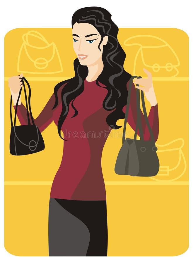 Einkaufenabbildungserie stock abbildung