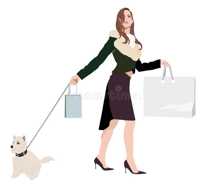 Einkaufendame stock abbildung