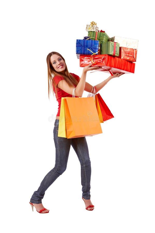 Einkaufenfrau lizenzfreie stockfotografie