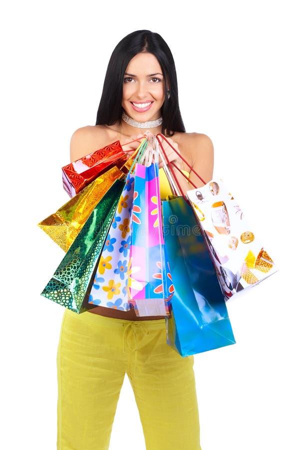 Einkaufenfrau stockfoto