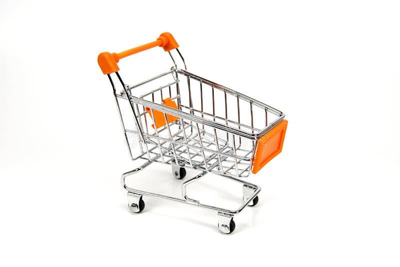 Einkaufenlaufkatze getrennt lizenzfreies stockbild