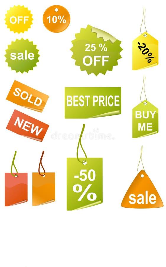 Einkaufenmarken lizenzfreie abbildung