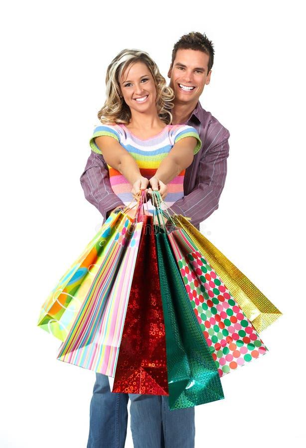 Einkaufenpaare lizenzfreies stockfoto