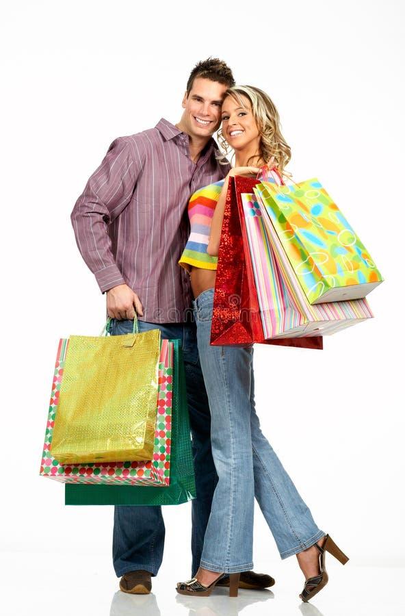 Einkaufenpaare lizenzfreies stockbild