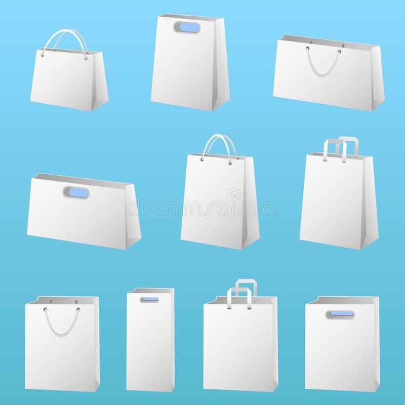 Einkaufenpaketvektor stock abbildung
