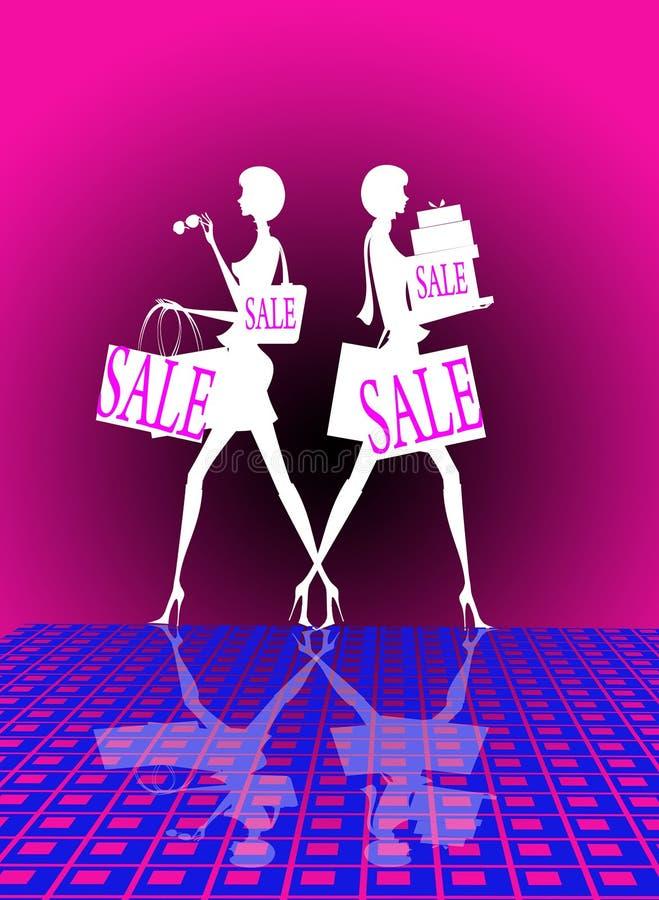 Einkaufenverkauf vektor abbildung
