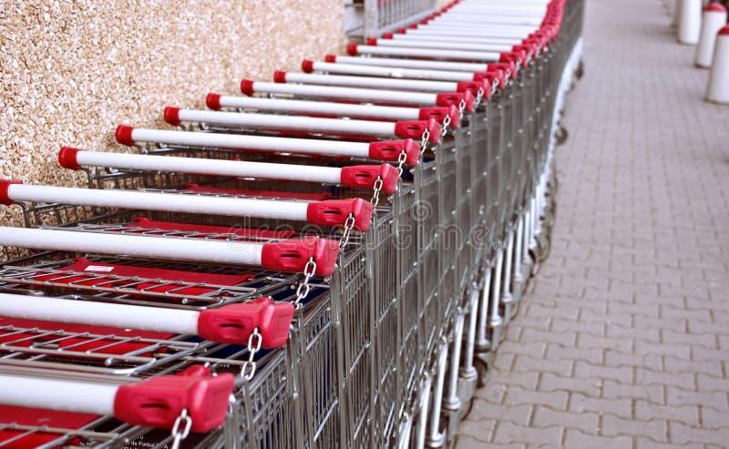 Einkaufenwagen stockfotografie