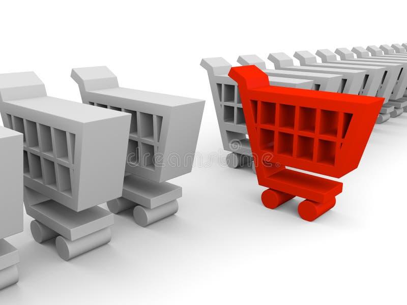 Einkaufenwagen lizenzfreie abbildung