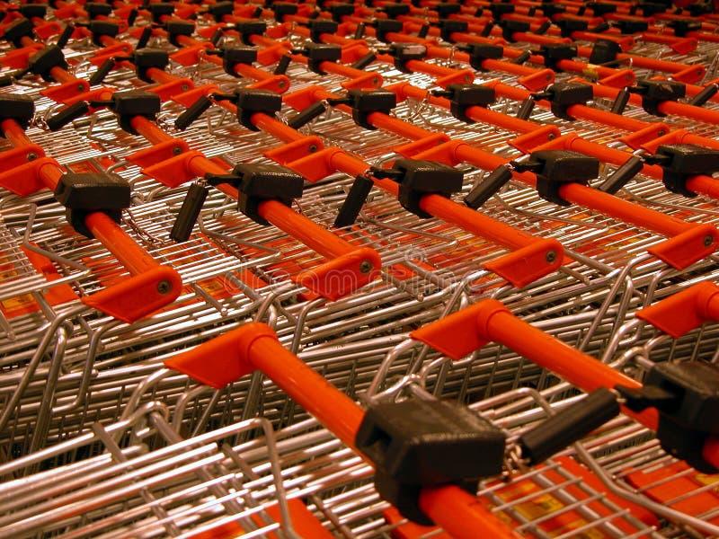 Einkaufenwagen stockbild