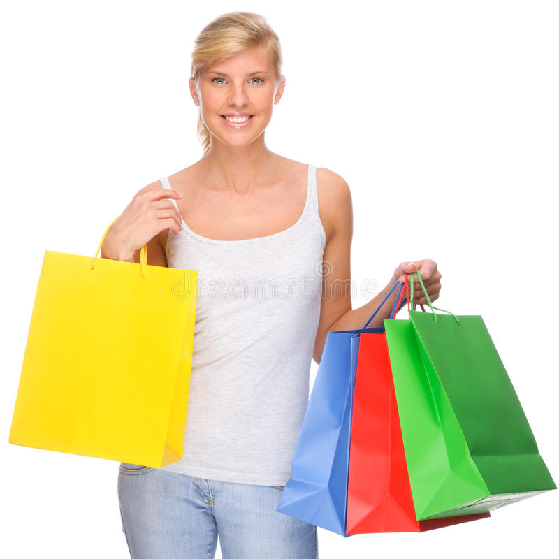 Einkaufenzeit stockbild