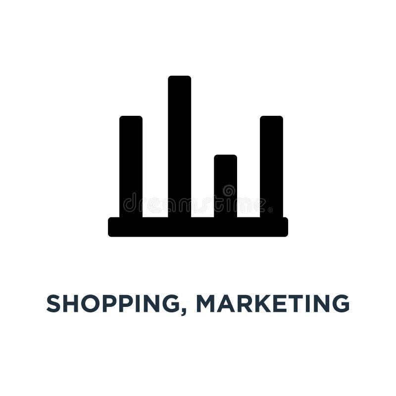 Einkaufs-, Marketing- und Verkaufsikonenikone Einkaufsillustrationen stock abbildung