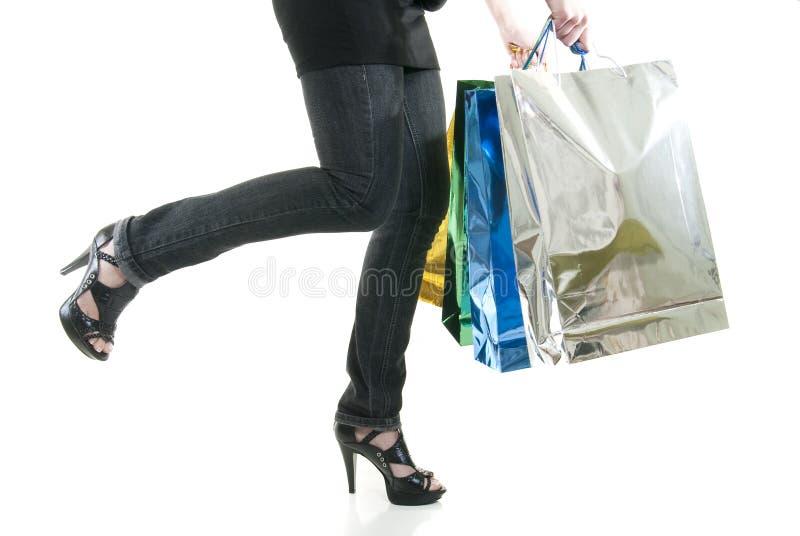 Einkaufsbummel stockbild