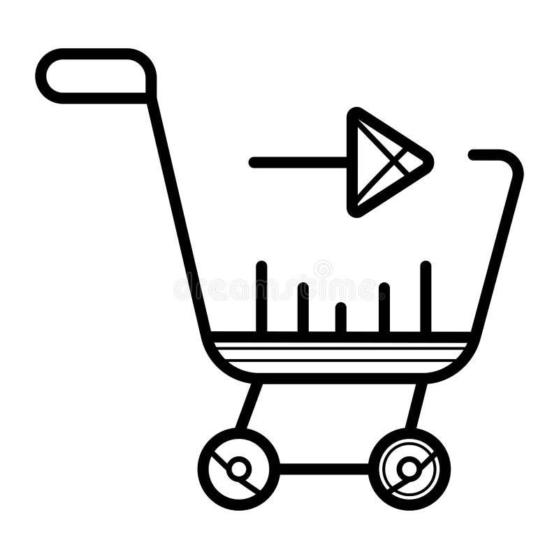 Einkaufsdiagrammvektorikone lizenzfreie abbildung