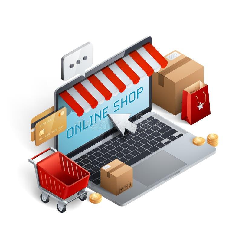 Download Einkaufse-commerce-Konzept stock abbildung. Illustration von graphik - 106161611