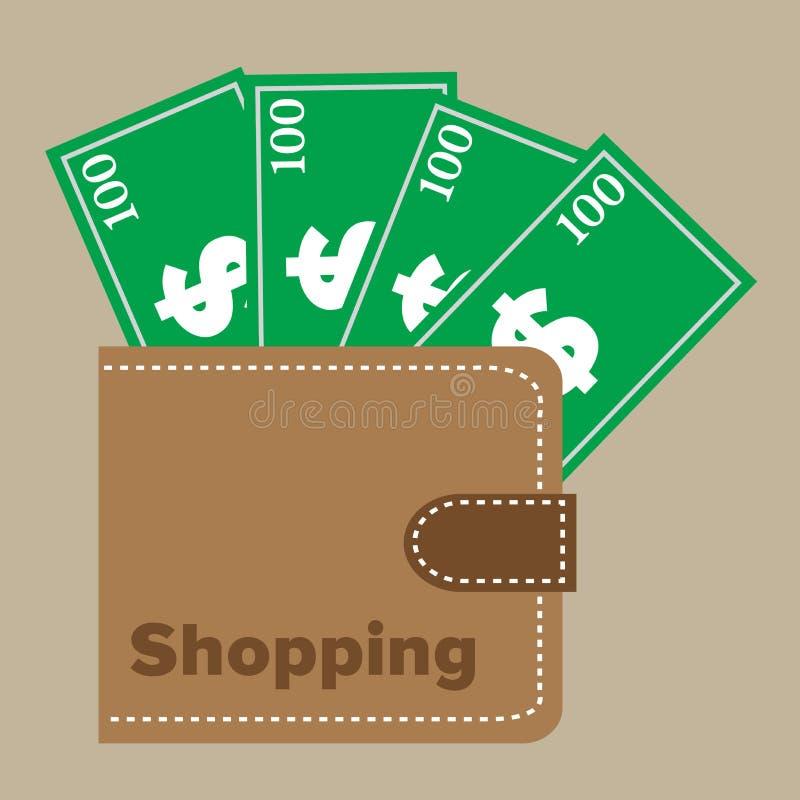 Einkaufsgeldbörse vektor abbildung