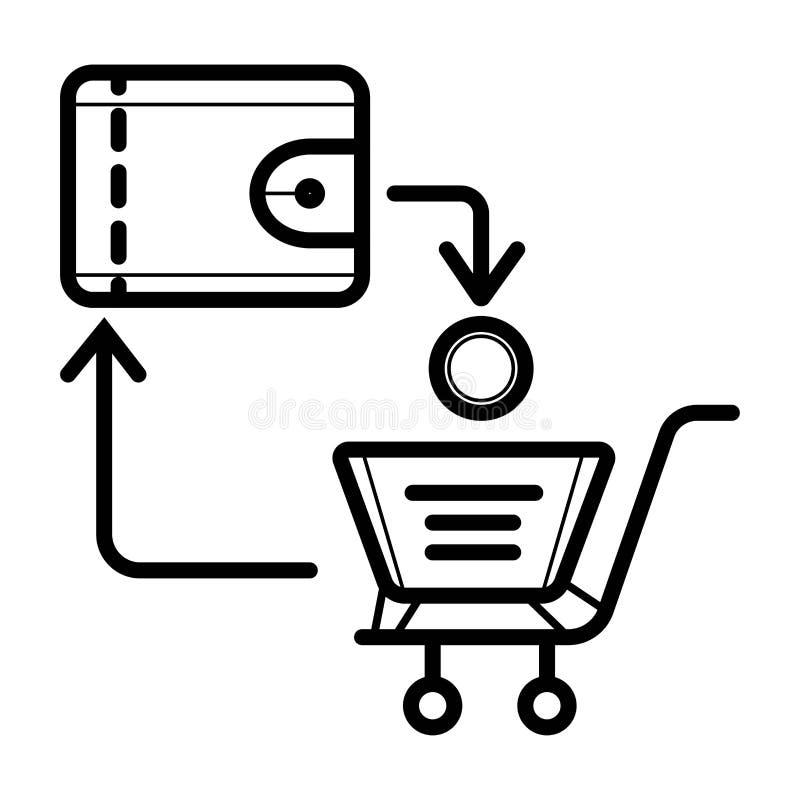 Einkaufsikonenvektor lizenzfreie abbildung