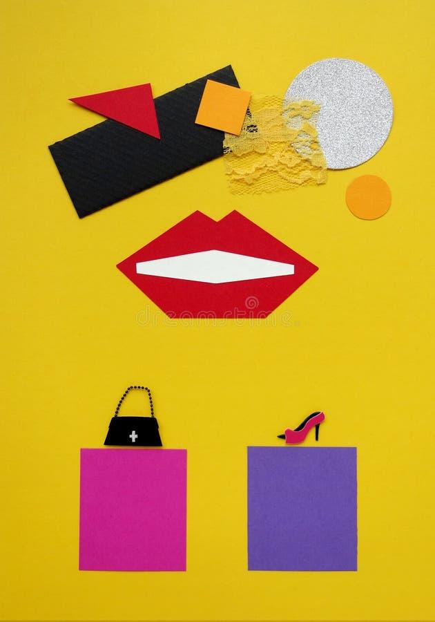 Einkaufskonzept-Modecollage lizenzfreies stockbild