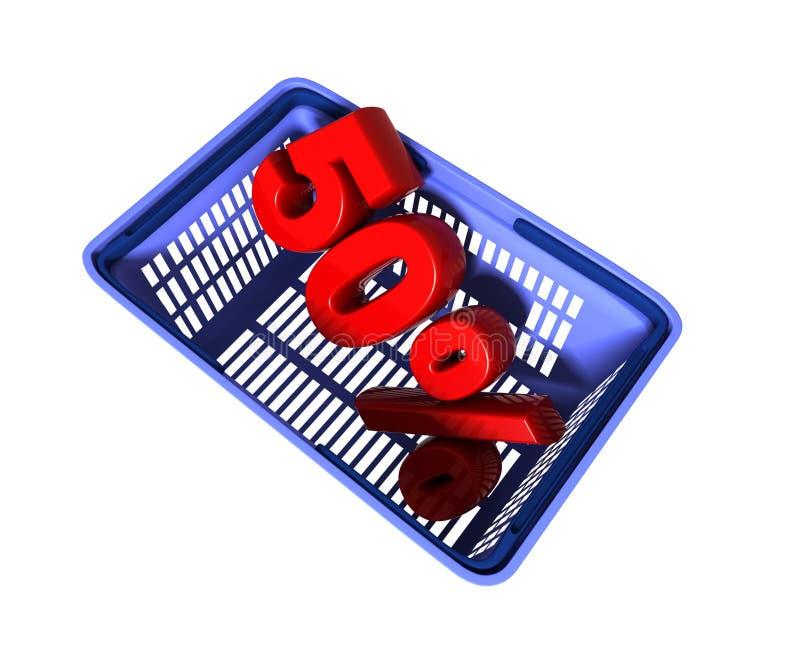 Einkaufskorb lizenzfreie abbildung