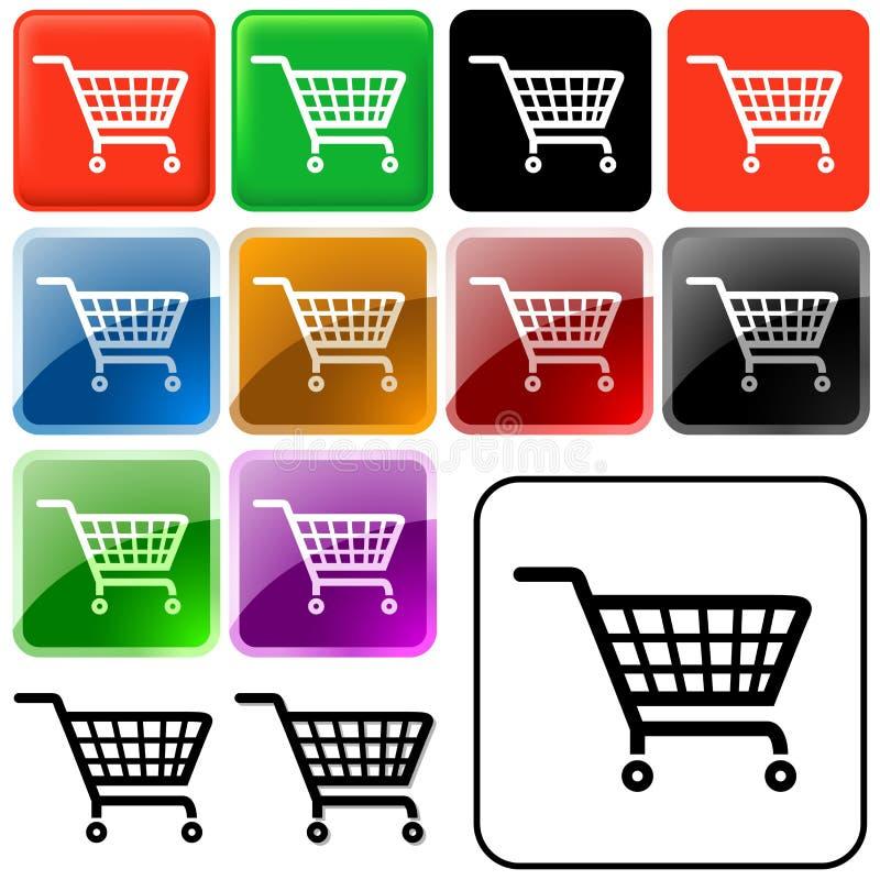 Einkaufskorb-Zeichen lizenzfreie abbildung