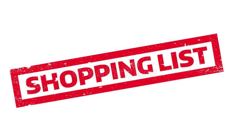 Einkaufslistestempel lizenzfreie abbildung