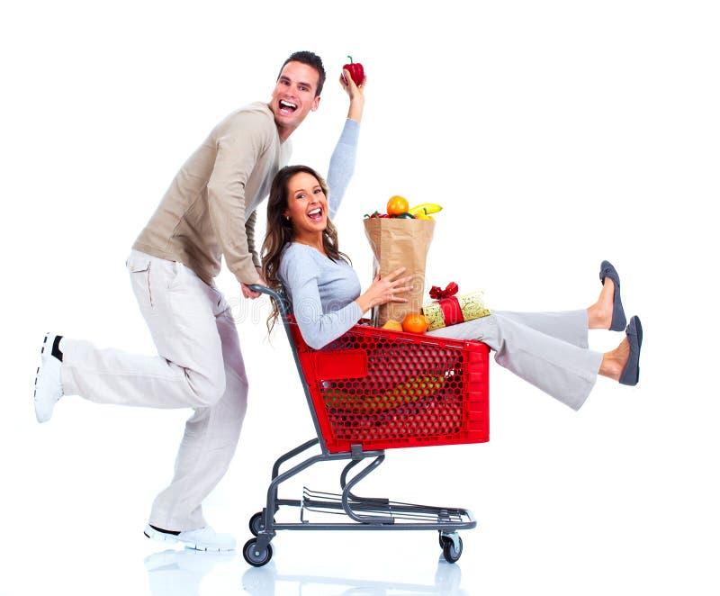 Einkaufspaare. lizenzfreie stockfotografie