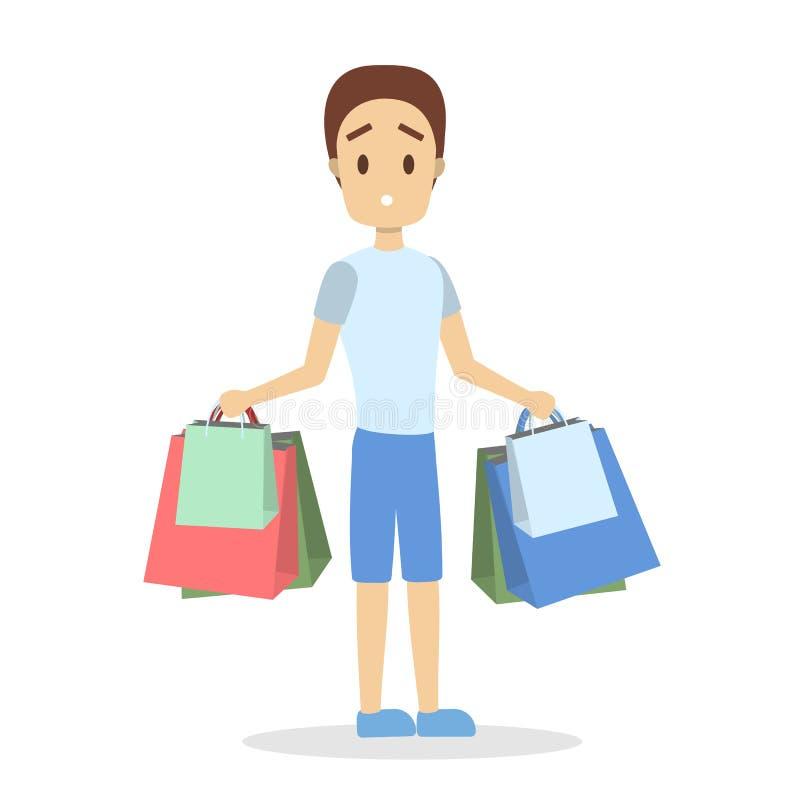 Einkaufssatz der Leute stock abbildung
